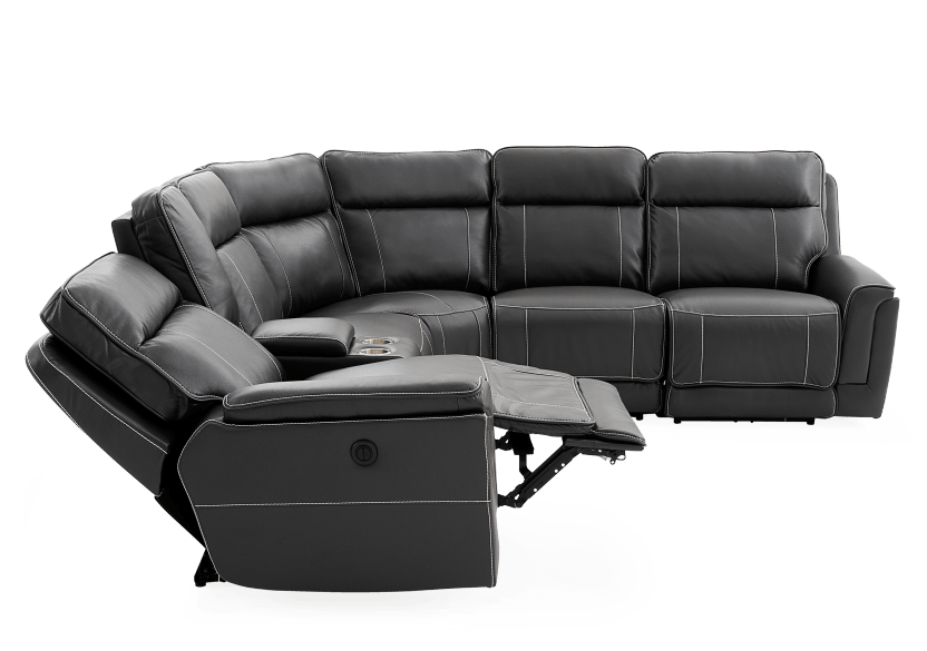 Grey Reclining and Motorized Sectional Sofa product photo other05 L