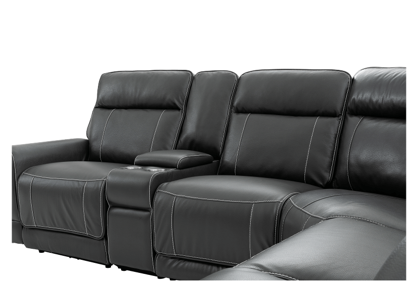 Grey Reclining and Motorized Sectional Sofa product photo other06 L