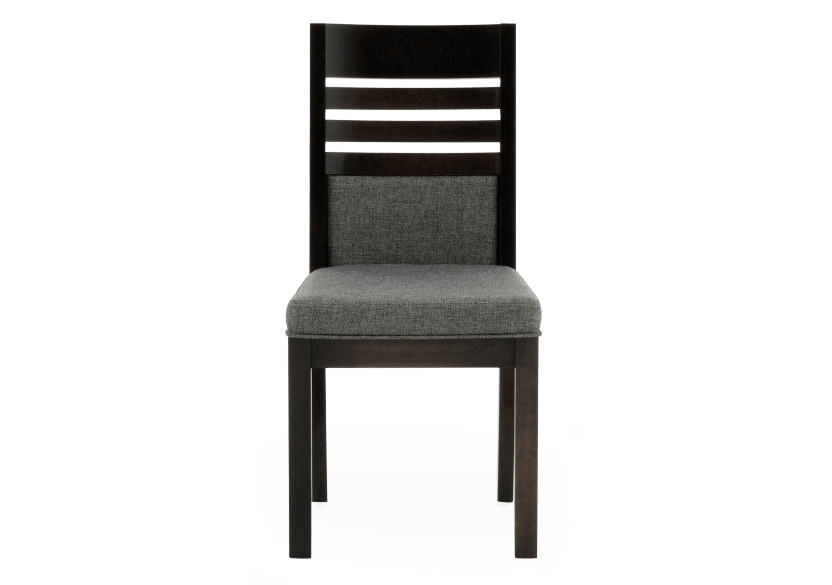Dark Grey Birch Chair with Upholstered Seat product photo Front View L