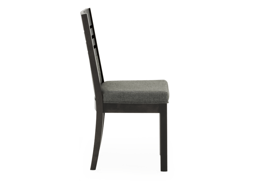 Dark Grey Birch Chair with Upholstered Seat product photo other02 L