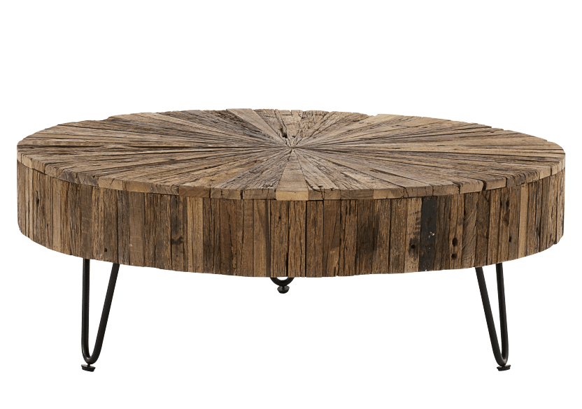 Brown Wood and Metal Coffee Table product photo other01 L