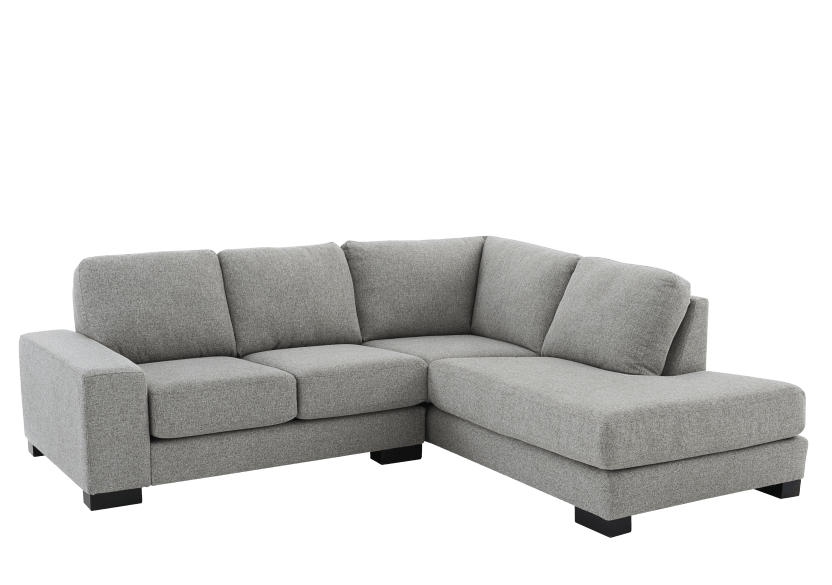 Grey Beige Upholstered Sectional Sofa product photo other01 L