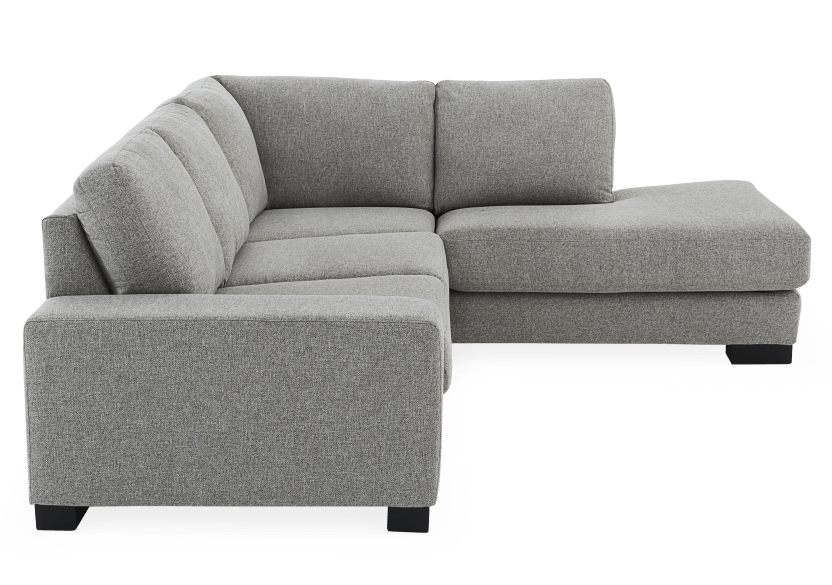 Grey Beige Upholstered Sectional Sofa product photo other02 L