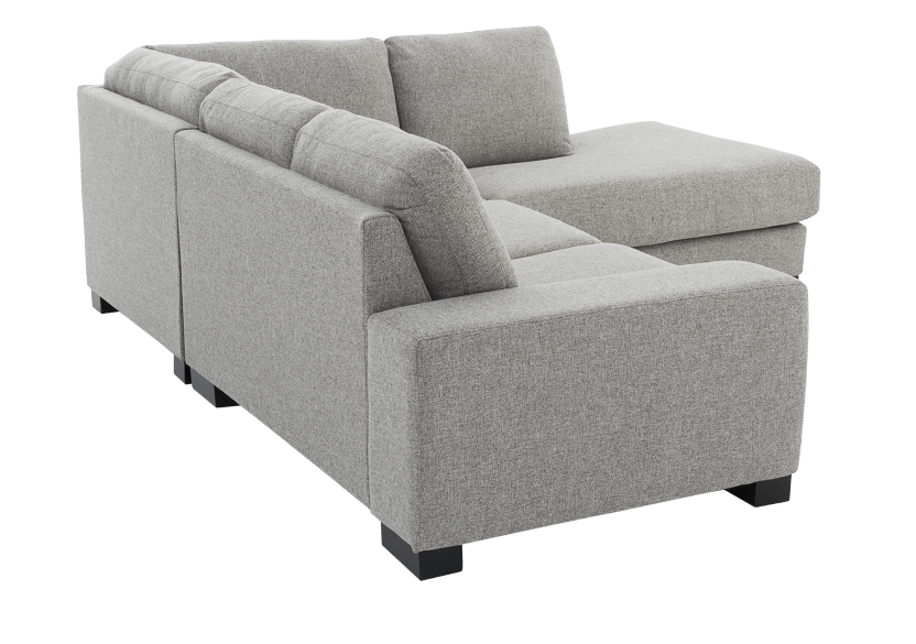 Grey Beige Upholstered Sectional Sofa product photo other05 L