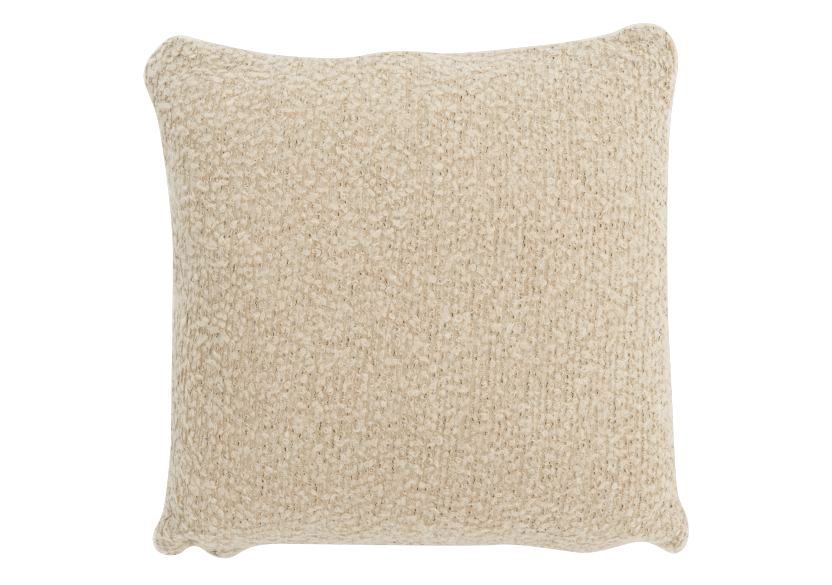 "17x17"" Beige Decorative Pillow product photo Front View L"