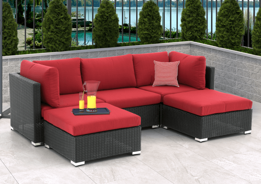 Red and Grey Patio Furniture product photo other02 L