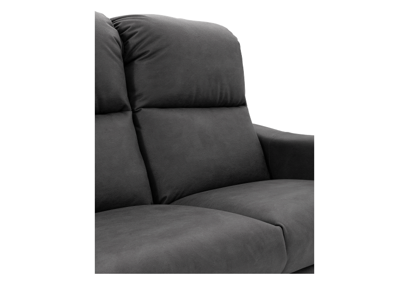 Dark Grey Reclining and Motorized Upholstered Loveseat with Adjustable Headrests - Elran product photo other06 L