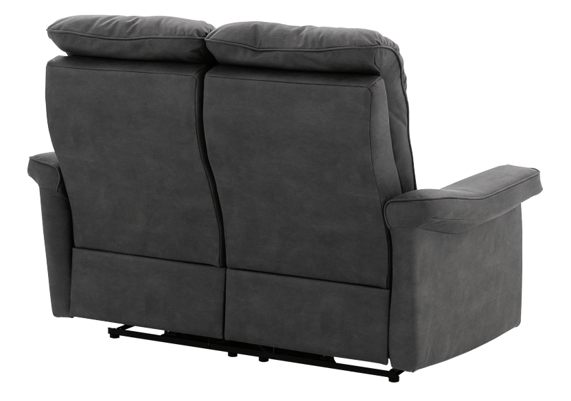 Dark Grey Reclining and Motorized Upholstered Loveseat with Adjustable Headrests - Elran product photo other08 L