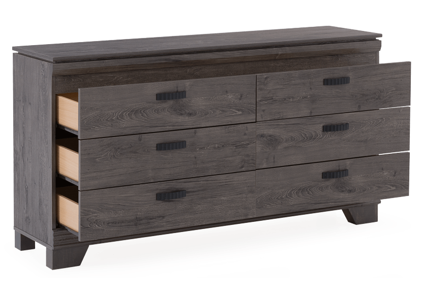 Grey 6-Drawer Dresser product photo other02 L