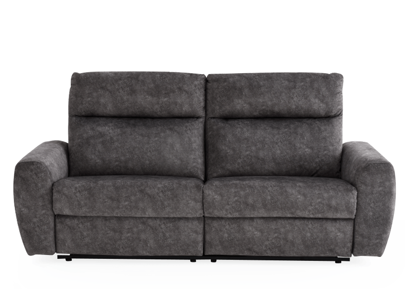 Grey Reclining and Motorized Upholstered Sofa - Elran product photo