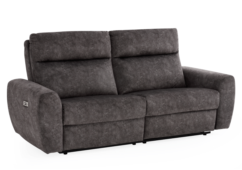 Grey Reclining and Motorized Upholstered Sofa - Elran product photo other01 L