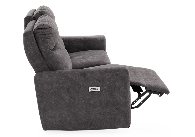 Grey Reclining and Motorized Upholstered Sofa - Elran product photo other04 L
