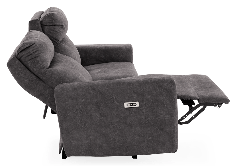Grey Reclining and Motorized Upholstered Sofa - Elran product photo other05 L