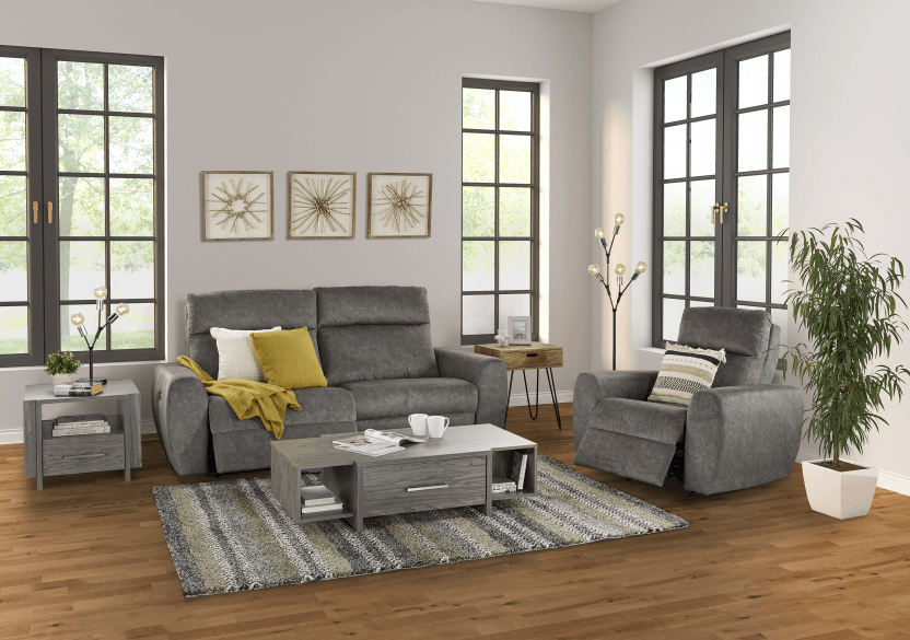 Grey Reclining and Motorized Upholstered Sofa - Elran product photo other10 L