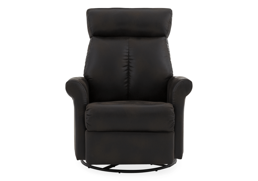 Dark Brown Upholstered Reclining, Rocking and Swinging Armchair product photo Front View L