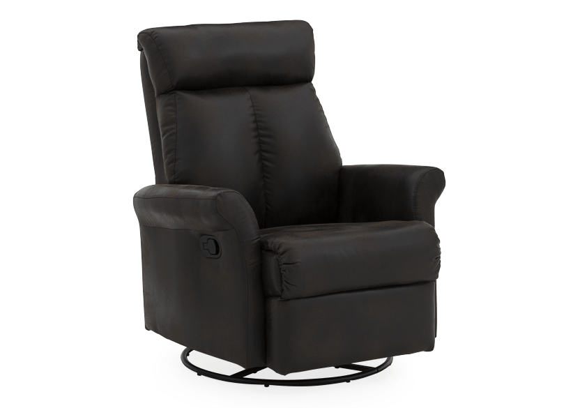 Dark Brown Upholstered Reclining, Rocking and Swinging Armchair product photo other01 L