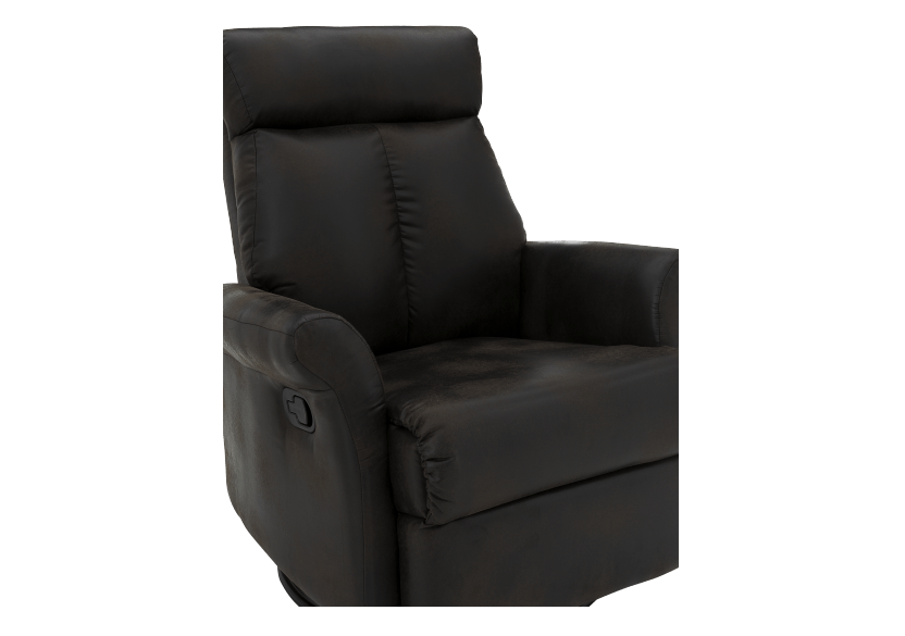 Dark Brown Upholstered Reclining, Rocking and Swinging Armchair product photo other06 L