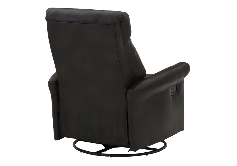 Dark Brown Upholstered Reclining, Rocking and Swinging Armchair product photo other08 L