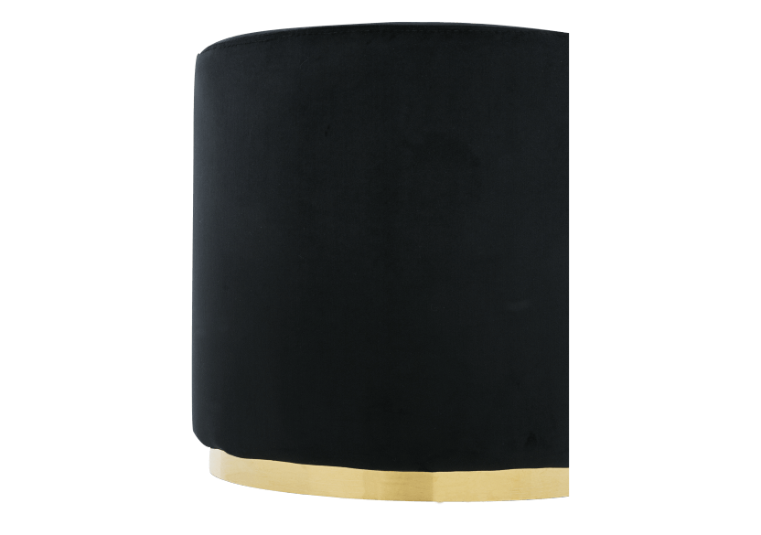 Black and Golden Upholstered Ottoman product photo other02 L