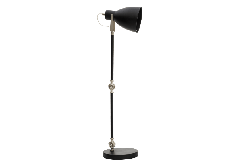 Black and Silver Grey Metal Table Lamp product photo