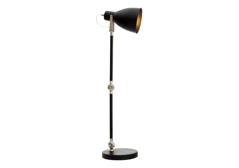 Black and Silver Grey Metal Table Lamp product photo other01 L