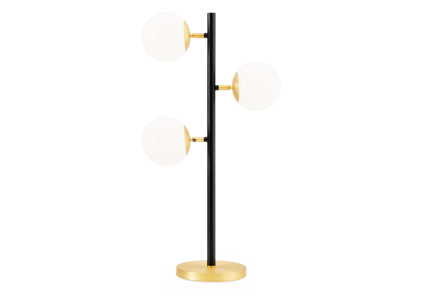 Black and Golden Yellow Metal Table Lamp product photo
