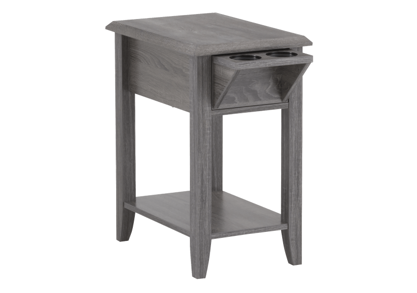 Grey Wood End Table product photo other01 L