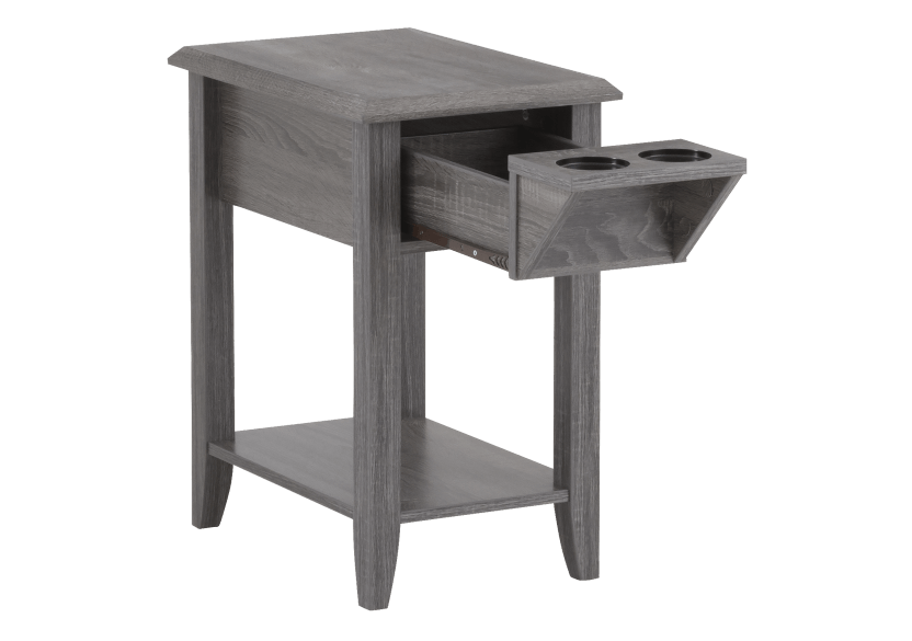 Grey Wood End Table product photo other02 L