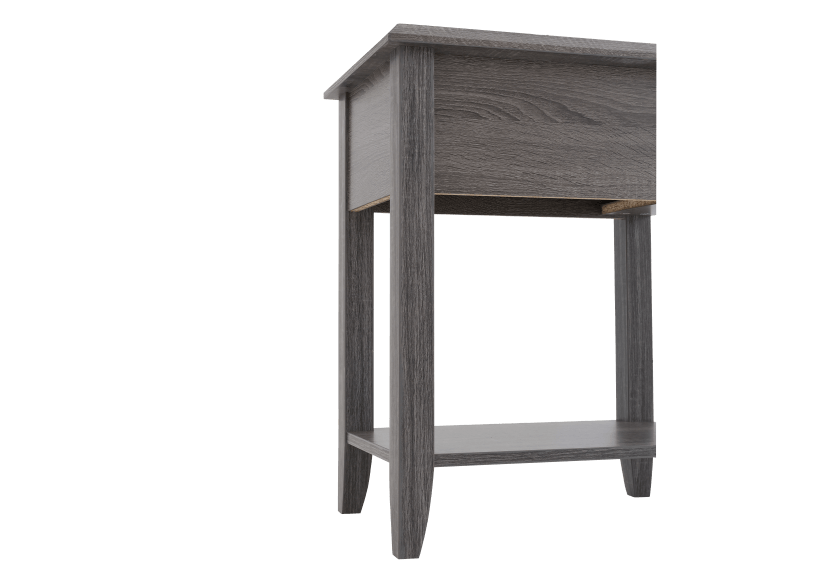 Grey Wood End Table product photo other05 L