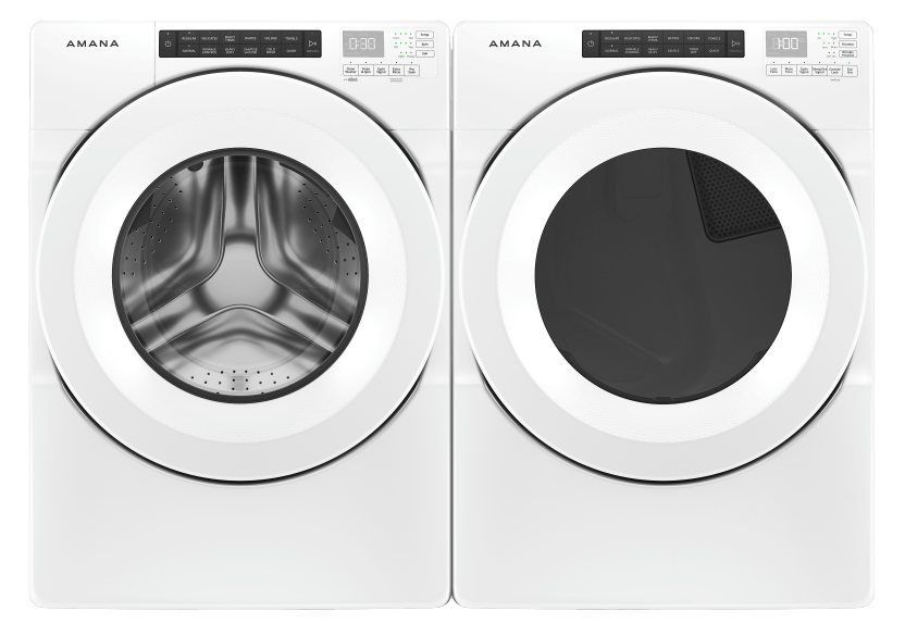 Amana Front Load Washer and Dryer Set - NFW5800HW YNED5800HW product photo Front View L