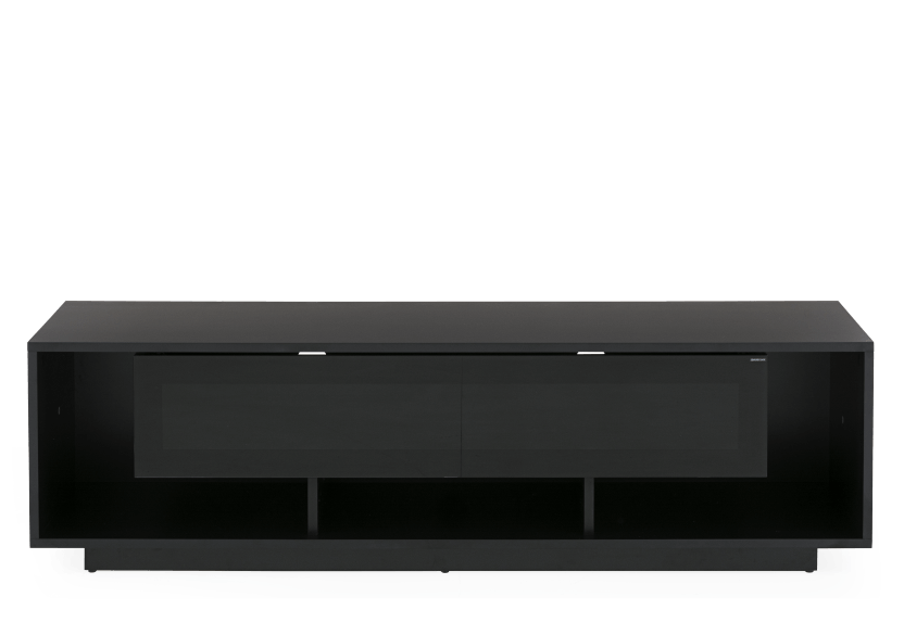 Black 2 Shelves TV Stand product photo Front View L