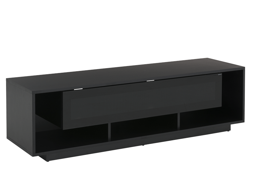 Black 2 Shelves TV Stand product photo other01 L