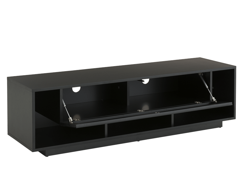 Black 2 Shelves TV Stand product photo other02 L