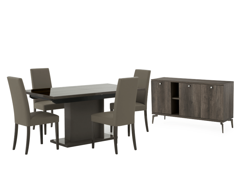 Grey Wood Dining Room Furniture product photo