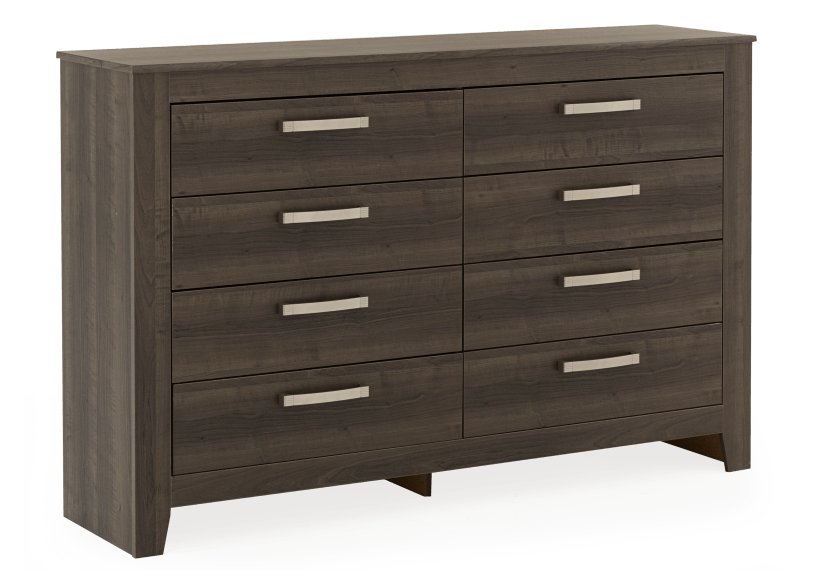 Brown Grey 8-Drawer Dresser product photo other01 L