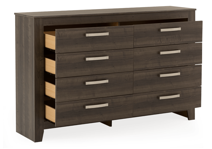 Brown Grey 8-Drawer Dresser product photo other02 L