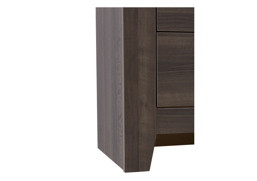 Brown Grey 8-Drawer Dresser product photo other05 L