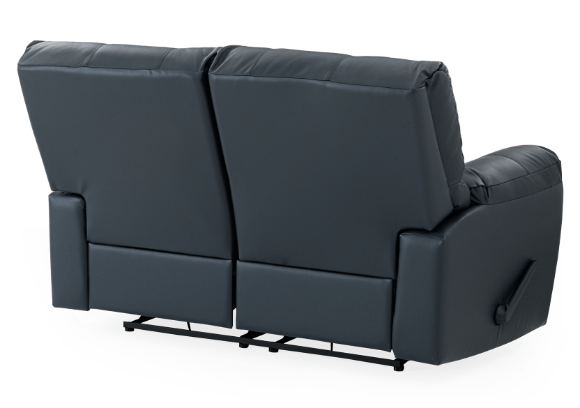 Dark Blue Reclining Loveseat with Genuine Leather Seats - ELRAN product photo other08 L