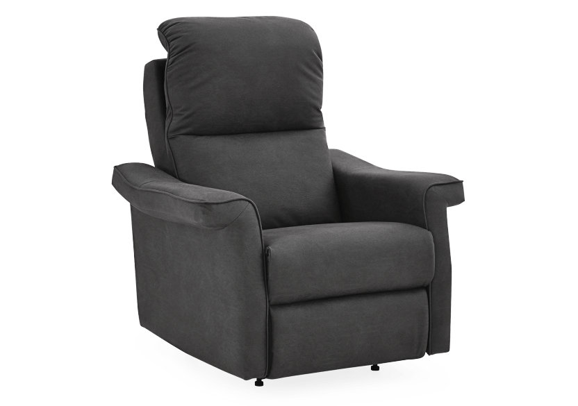 Dark Grey Reclining, Rocking and Battery Motorized Upholstered Armchair - ELRAN product photo other01 L