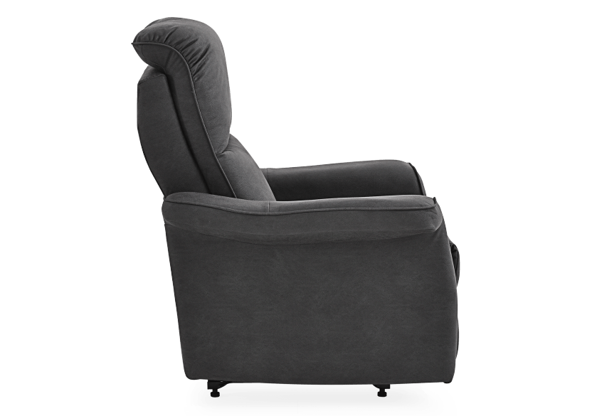Dark Grey Reclining, Rocking and Battery Motorized Upholstered Armchair - ELRAN product photo other02 L