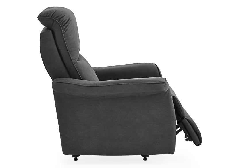 Dark Grey Reclining, Rocking and Battery Motorized Upholstered Armchair - ELRAN product photo other03 L