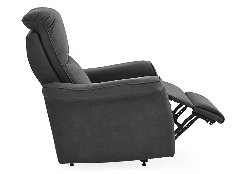 Dark Grey Reclining, Rocking and Battery Motorized Upholstered Armchair - ELRAN product photo other04 L