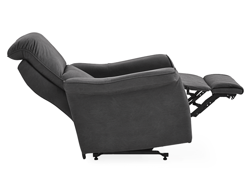 Dark Grey Reclining, Rocking and Battery Motorized Upholstered Armchair - ELRAN product photo other05 L