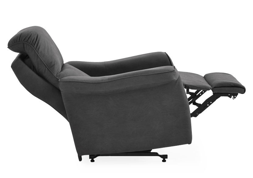 Dark Grey Reclining, Rocking and Battery Motorized Upholstered Armchair - ELRAN product photo other06 L