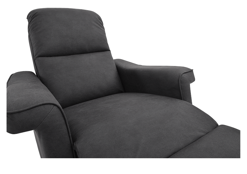 Dark Grey Reclining, Rocking and Battery Motorized Upholstered Armchair - ELRAN product photo other07 L