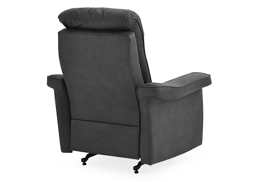 Dark Grey Reclining, Rocking and Battery Motorized Upholstered Armchair - ELRAN product photo other09 L