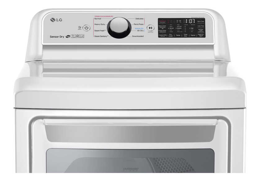 LG Dryer - DLEX7250W product photo other02 L