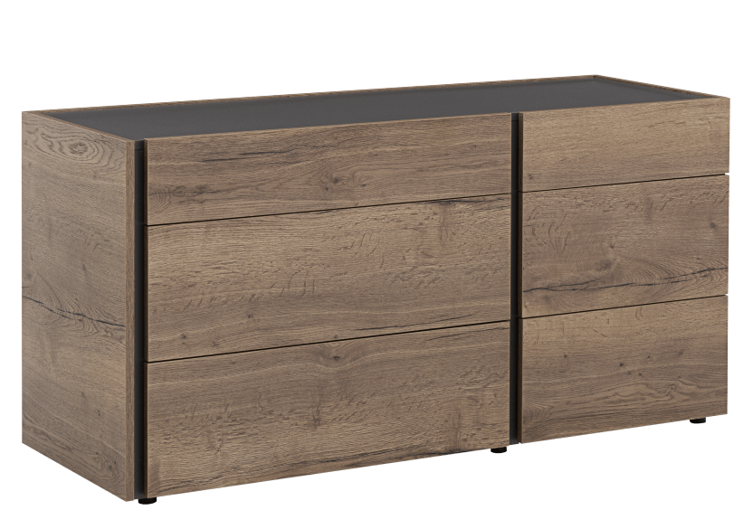 Beige and Dark Grey 6-Drawer Dresser product photo other01 L