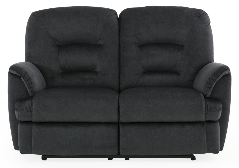 Black Reclining Upholstered Loveseat product photo