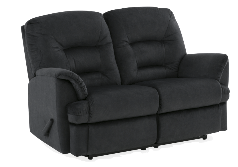 Black Reclining Upholstered Loveseat product photo other01 L